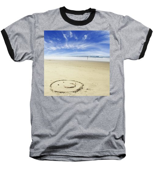 Happiness Baseball T-Shirt by Les Cunliffe
