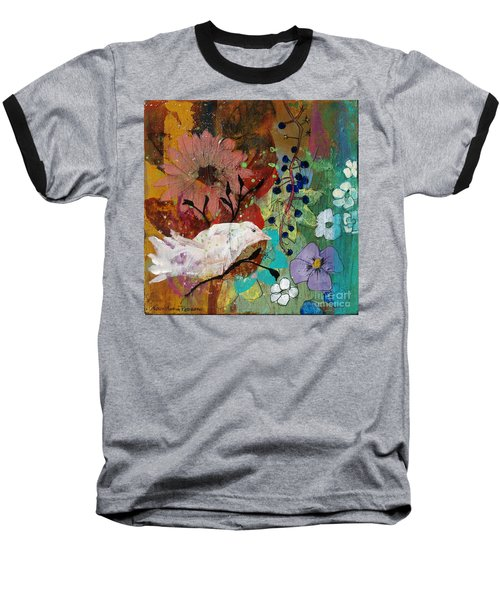 Baseball T-Shirt featuring the painting Happiness by Robin Maria Pedrero