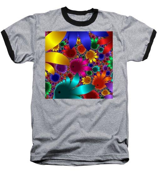 Happy Flowers Baseball T-Shirt
