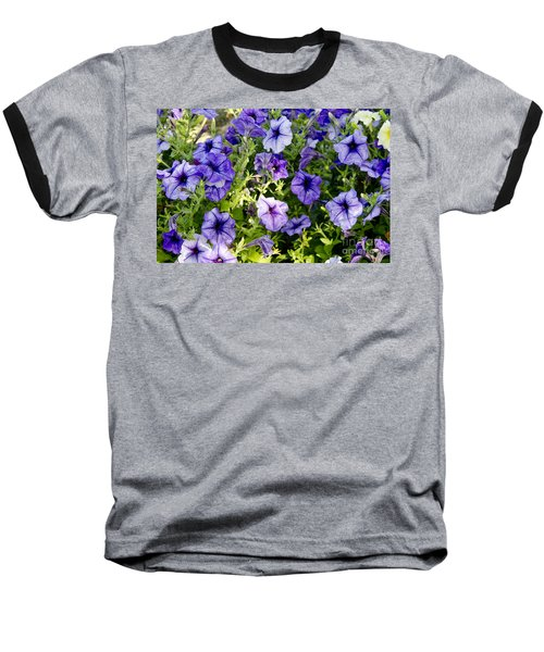 Baseball T-Shirt featuring the photograph Happy Flowers by Wilma  Birdwell