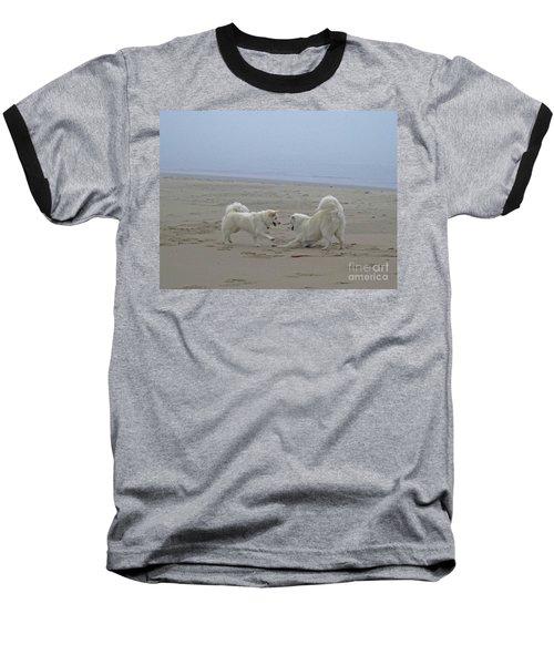 Baseball T-Shirt featuring the photograph Happy Girls Beach Side by Fiona Kennard