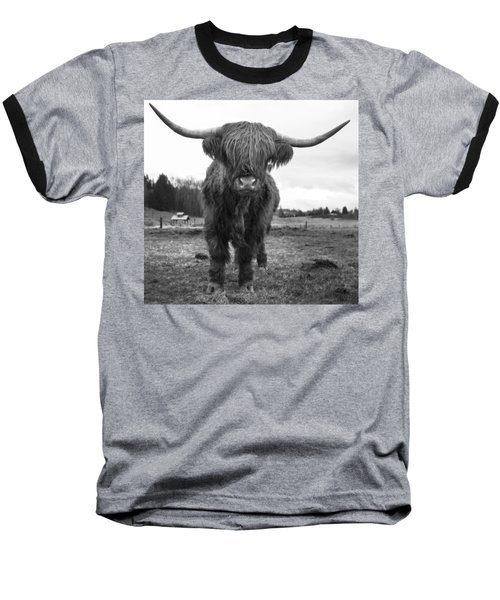 Happy Highland Cow Baseball T-Shirt