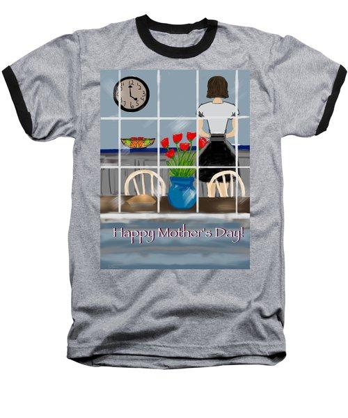 Baseball T-Shirt featuring the digital art Happy Homemaker by Christine Fournier