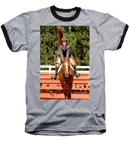 Happy Hunter Horse Baseball T-Shirt