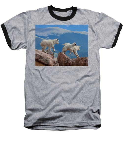 Happy Landing Baseball T-Shirt by Jim Garrison