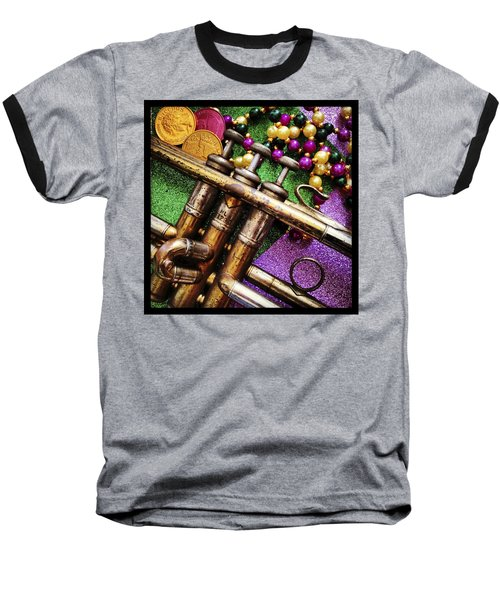 Happy Mardi Gras Baseball T-Shirt