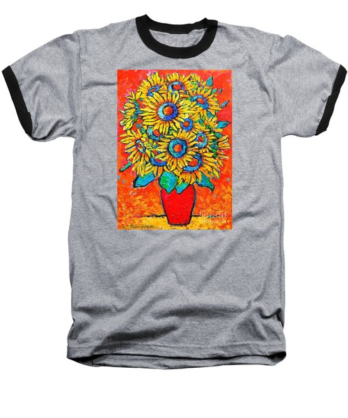 Happy Sunflowers Baseball T-Shirt