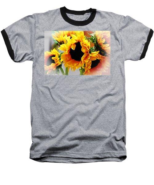 Happy Sunflowers Baseball T-Shirt