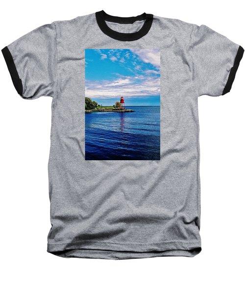 Baseball T-Shirt featuring the photograph Harbor Light by Daniel Thompson