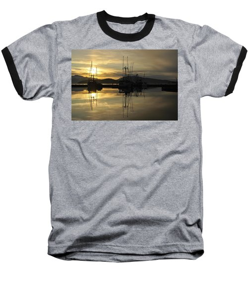 Baseball T-Shirt featuring the photograph Harbor Sunset by Cathy Mahnke