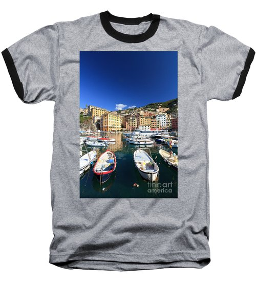 Baseball T-Shirt featuring the photograph Harbor With Fishing Boats by Antonio Scarpi