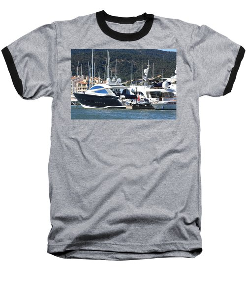 Harbour Docking Scene Baseball T-Shirt by Rogerio Mariani