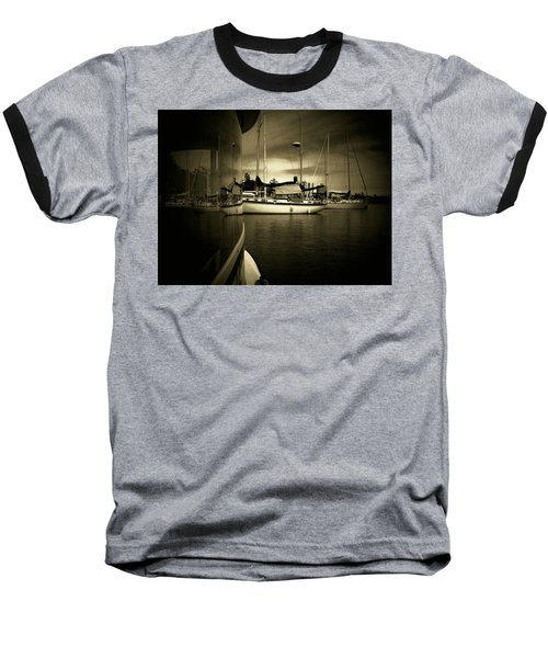Baseball T-Shirt featuring the photograph Harbour Life by Micki Findlay