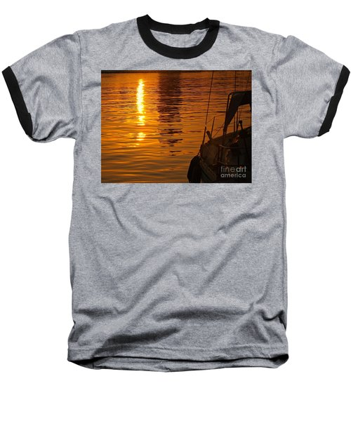 Baseball T-Shirt featuring the photograph Harbour Sunset by Clare Bevan