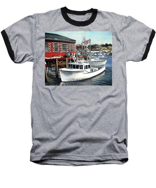 Hard Merchandise Rocky Neck Baseball T-Shirt by Eileen Patten Oliver