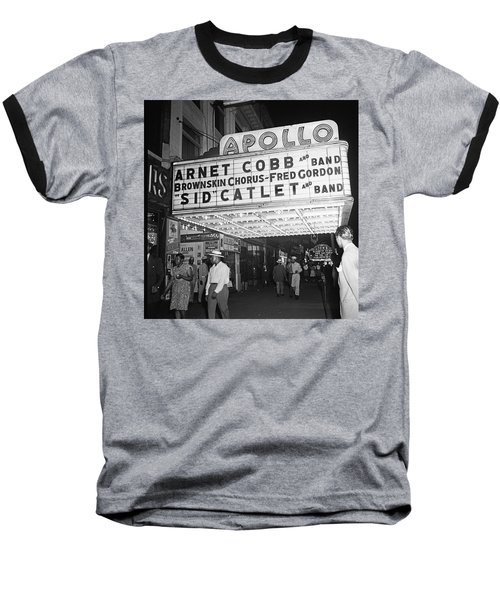 Harlem's Apollo Theater Baseball T-Shirt by Underwood Archives Gottlieb