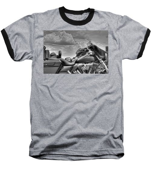 Harley Black And White Baseball T-Shirt by Ron White
