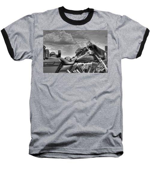 Harley Black And White Baseball T-Shirt