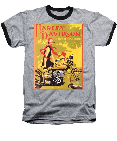 Baseball T-Shirt featuring the painting Harley Davidson 1927 Poster by Reproduction