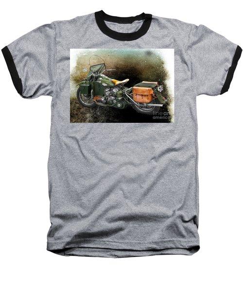 Harley Davidson 1942 Experimental Army Baseball T-Shirt