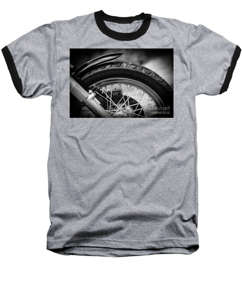 Baseball T-Shirt featuring the photograph Harley Davidson Tire by Carsten Reisinger
