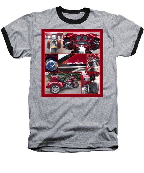 Harley Davidson Ultra Classic Trike Baseball T-Shirt