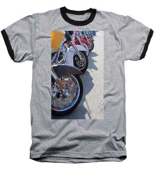 Harley Line Up 1 Baseball T-Shirt