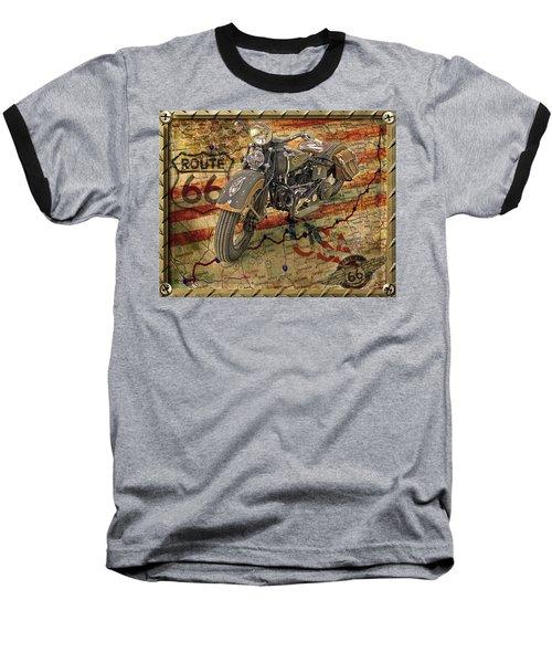 Harley On 66 Baseball T-Shirt
