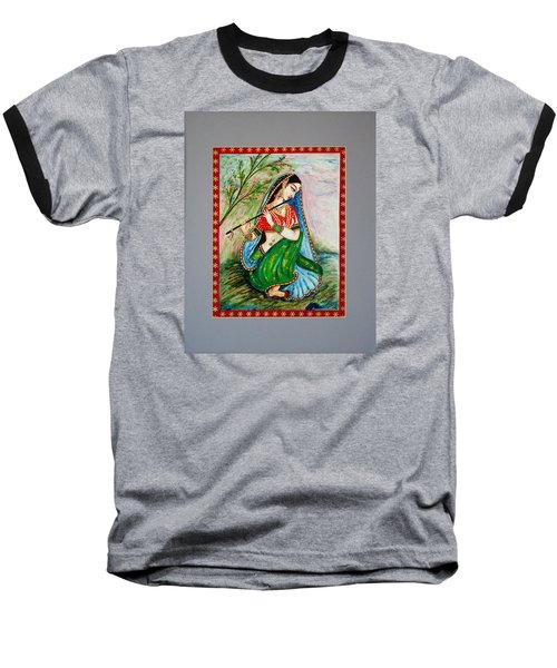 Baseball T-Shirt featuring the painting Harmony by Harsh Malik