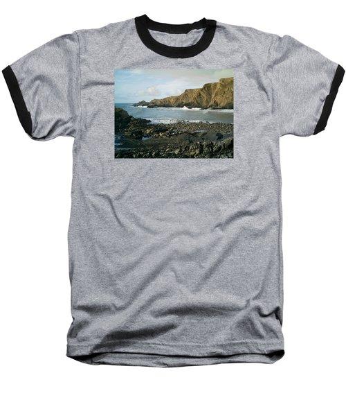 North Devon - Hartland Quay Baseball T-Shirt by Richard Brookes
