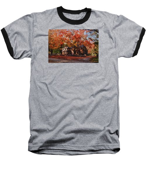 Baseball T-Shirt featuring the photograph Hartwell Tavern Under Canopy Of Fall Foliage by Jeff Folger