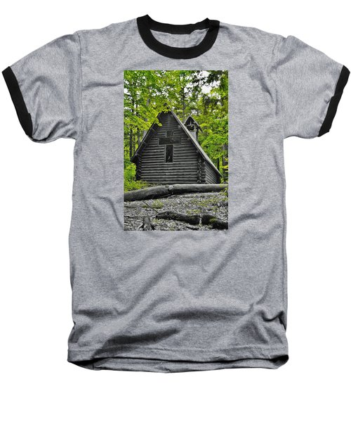 Hartwick Pines Chapel Bwg Baseball T-Shirt by Daniel Thompson