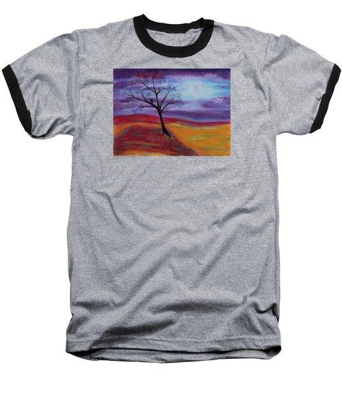 Harvest Moon 2 Baseball T-Shirt by Jeanne Fischer