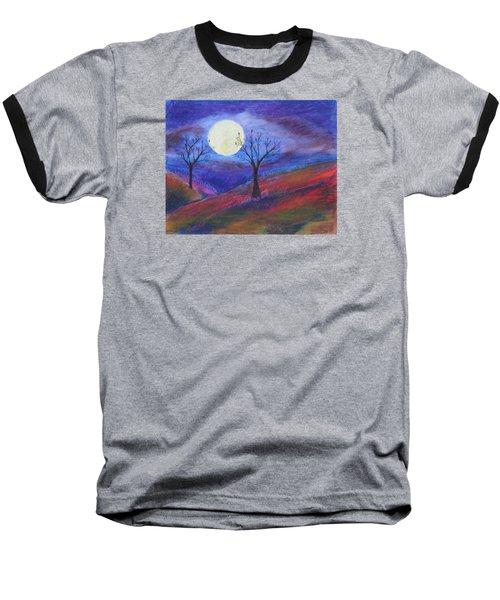 Harvest Moon 3 Baseball T-Shirt by Jeanne Fischer
