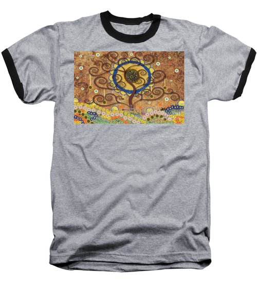 Harvest Swirl Tree Baseball T-Shirt