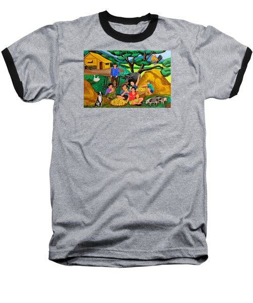 Baseball T-Shirt featuring the painting Harvest Time by Cyril Maza