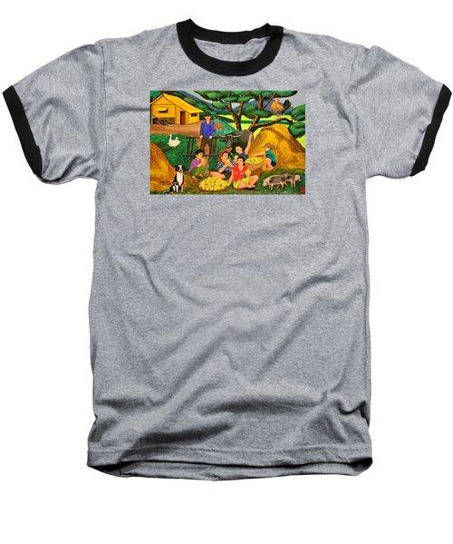 Harvest Time Baseball T-Shirt by Lorna Maza