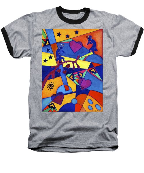 Harvesting The Love Kokopelli Art  Baseball T-Shirt