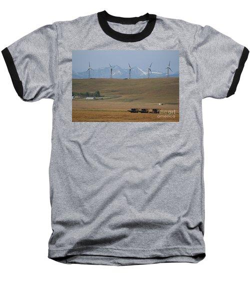 Harvesting Wind And Grain Baseball T-Shirt