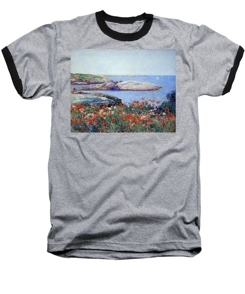 Hassam's Poppies On The Isles Of Shoals Baseball T-Shirt