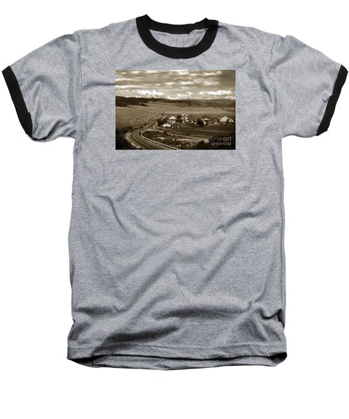 Hatton Ranch Carmel Valley From Highway One California  1940 Baseball T-Shirt by California Views Mr Pat Hathaway Archives