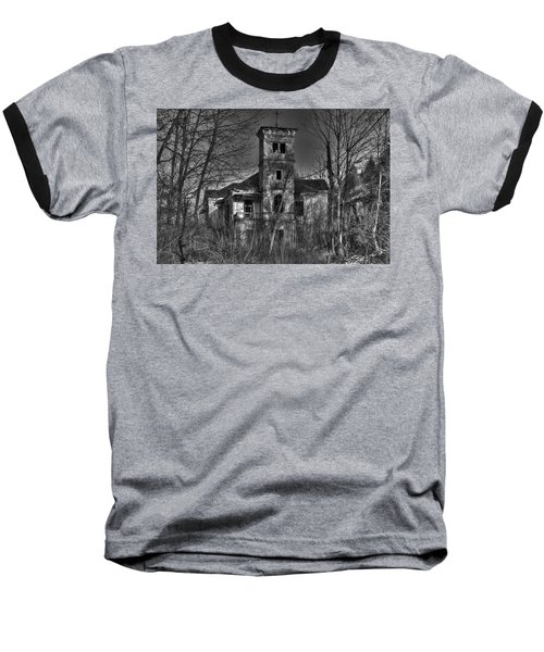 Haunted House Baseball T-Shirt