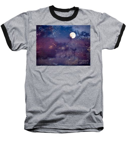 Haunted Moon Baseball T-Shirt by Roselynne Broussard