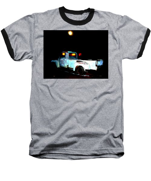 Baseball T-Shirt featuring the digital art Haunted Truck by Cathy Anderson