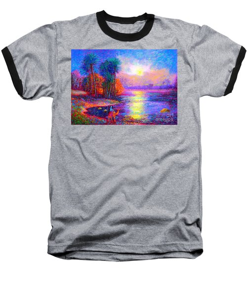 Baseball T-Shirt featuring the painting Haunting Star by Jane Small