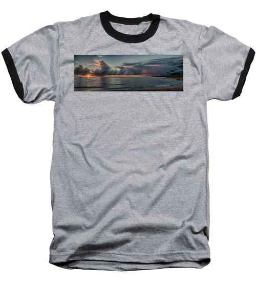 Hauula Sunrise Panorama Baseball T-Shirt