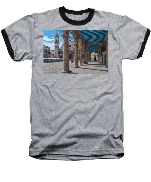 Havana Cathedral And Porches. Cuba Baseball T-Shirt