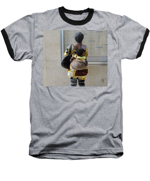 Baseball T-Shirt featuring the photograph Have Baby Will Travel by Natalie Ortiz