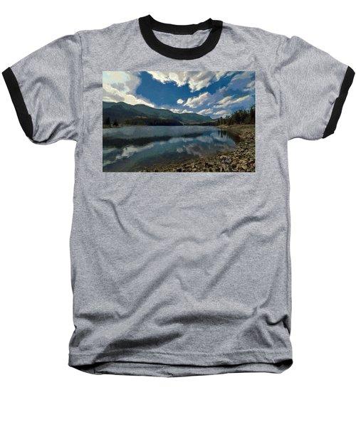 Baseball T-Shirt featuring the painting Haviland Lake by Jeff Kolker