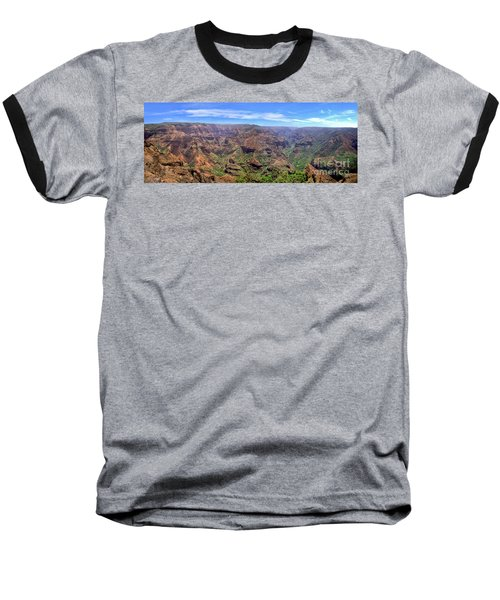 Hawaii Kauai Waimea Canyon Beautiful Panorama Baseball T-Shirt